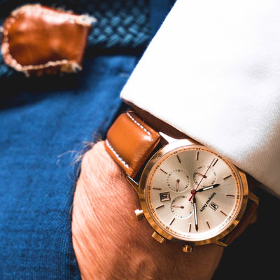 Comrade Dual Time Brown watch Tempus Faire