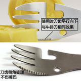 5 in1 Camping cookware spoon fork bottle can opener tool outdoor kitchen tools
