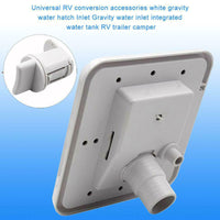 Gravity Inlet Parts Hatch Cover Screws Square Water Intake Lockable for Caravans Water Filler VS998