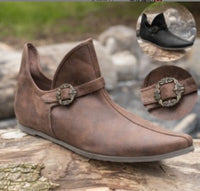 Men's Medieval Leather Shoe Middle Ages Ankle Boots SCA/LARP
