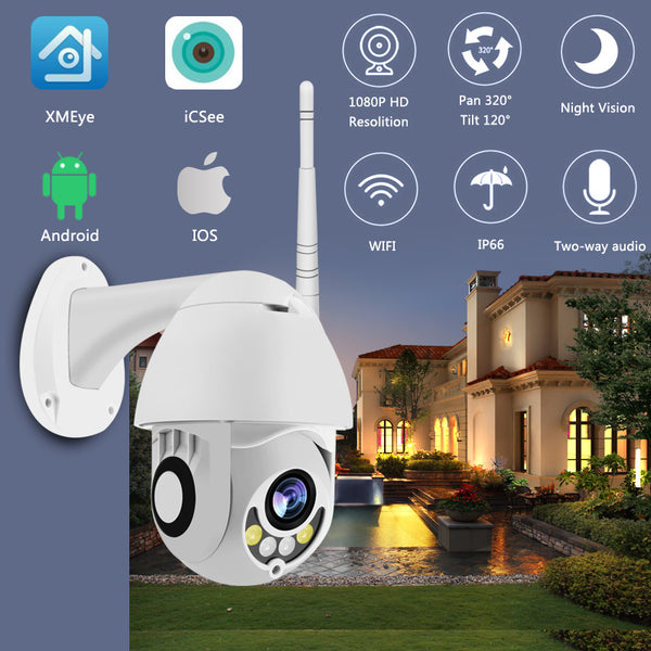 WIFI Camera Outdoor Camera 1080p Security Camera 2MP IR