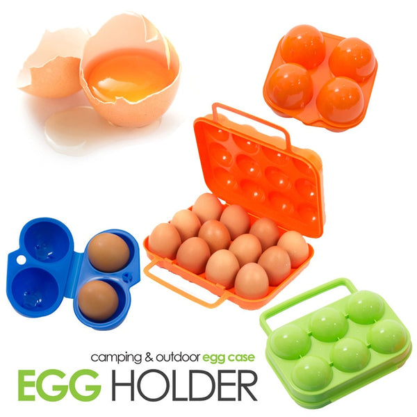 Camping Portable Egg Box Containe Travel Kitchen Utensils Camping Gear