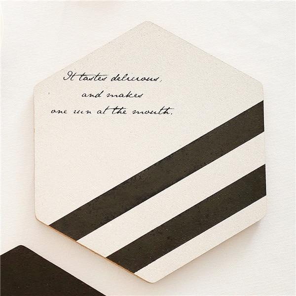 Black and White Wooden Placemats