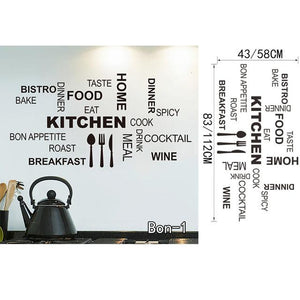 Bon Appetit Food Wall Stickers