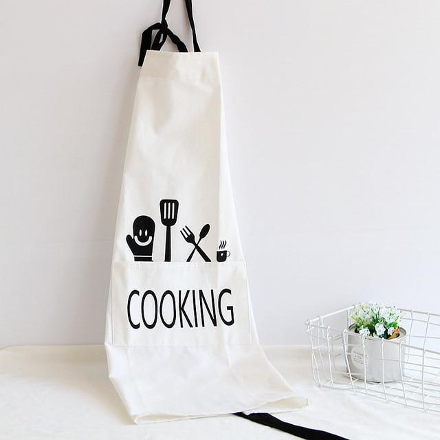 Cooking Written Cotton Apron