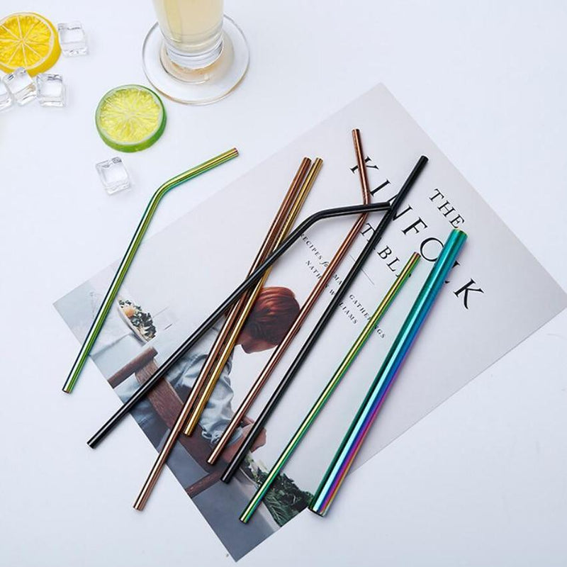 Reusable Colorful Metal Drinking Straws - superkitchenstore