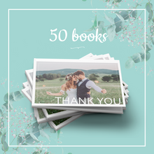 Load image into Gallery viewer, 50 Thank You Books for your Guests