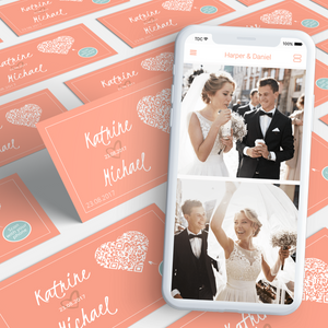 Invitation cards + Photo App Premium package [save €25]