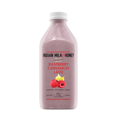 Raspberry Cinnamon Lassi - 32 oz (4 pack)