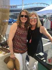 Anne and Teri at Horseshoe Market 2019