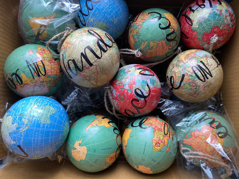 {afd} gifts globe ornaments 2019