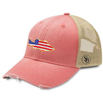 Fish Flag USA Hat