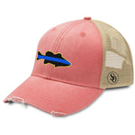 Fish Flag Blue Line Women's Hat