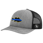 Fish Flag Blue Line Hat