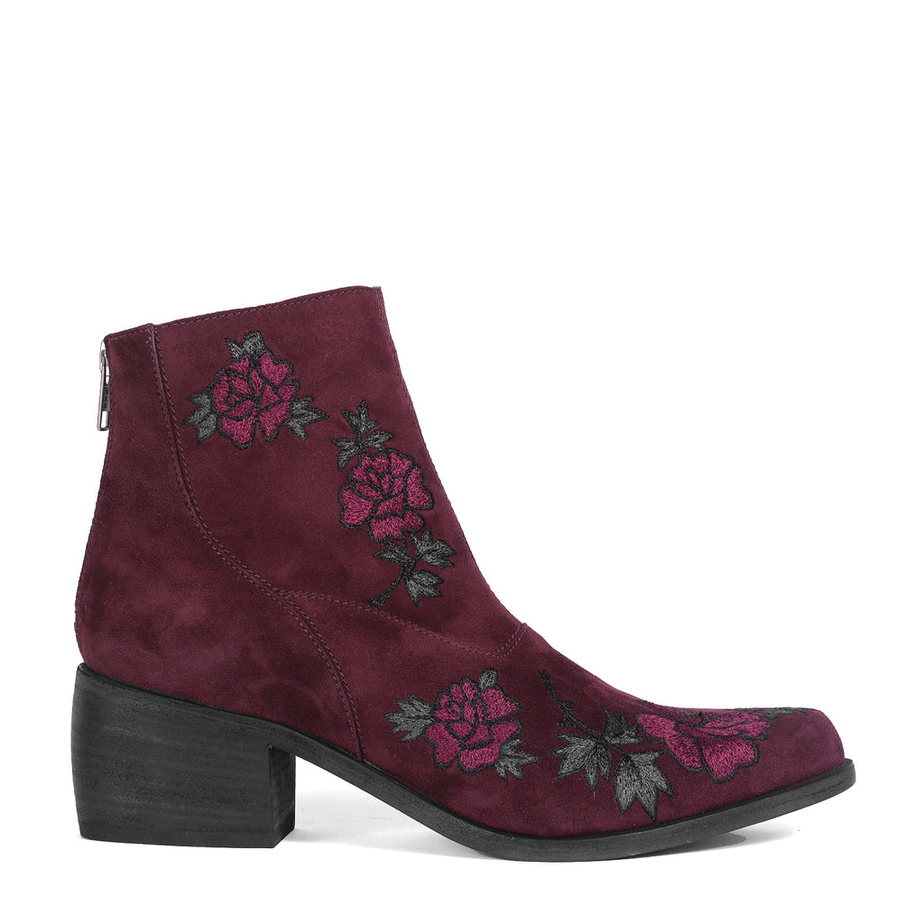 The Door - Dahlia Embroidered Suede