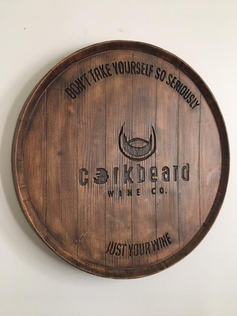 Corkbeard Barrel Top Sign