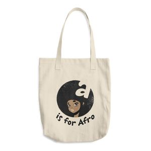 A is for AfroCotton Tote Bag