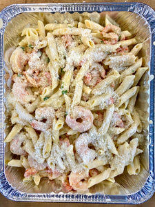 Penne Pasta + Shrimp + Crawfish + Jalapeño Cilantro Cream (13x9 Pan)