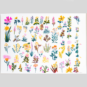 Wildflowers Risograph Print