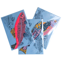 Salmon Greeting Card