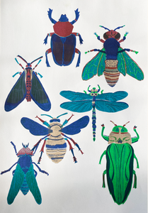 Insect Risograph Print