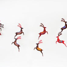 Reindeer Screen Printed Paper Garland