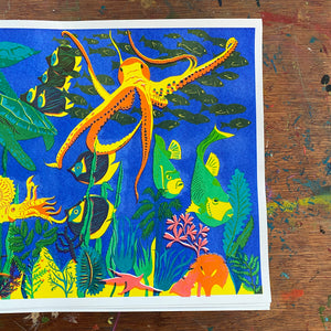 Under the Sea Risograph Print
