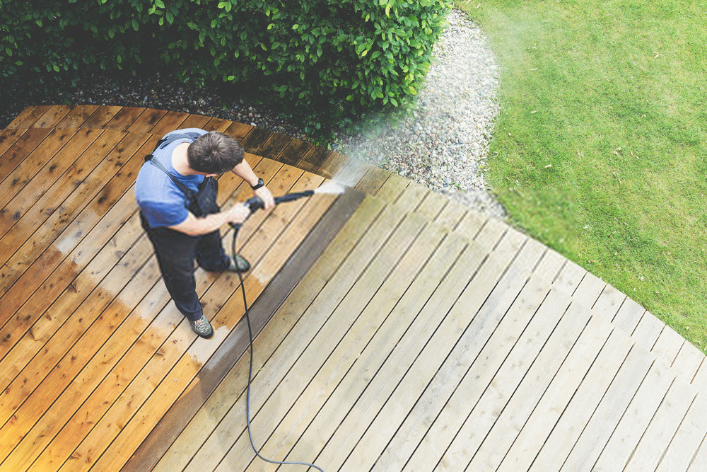 Cleaning your deck is simple and easy