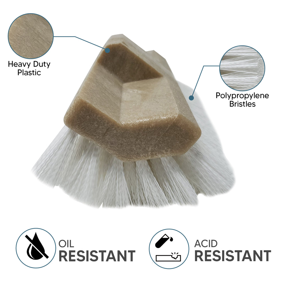 Easy Cleaning Solutions Deck Scrubber – 10-inch Brush Head Polypropylene