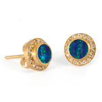 Sahara Earrings with Opals and Diamonds