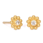 Daisy Studs in 22k Yellow Gold
