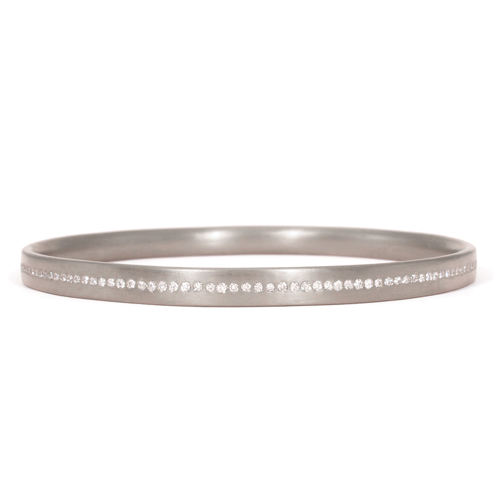Meridian Bangle 18k White Gold