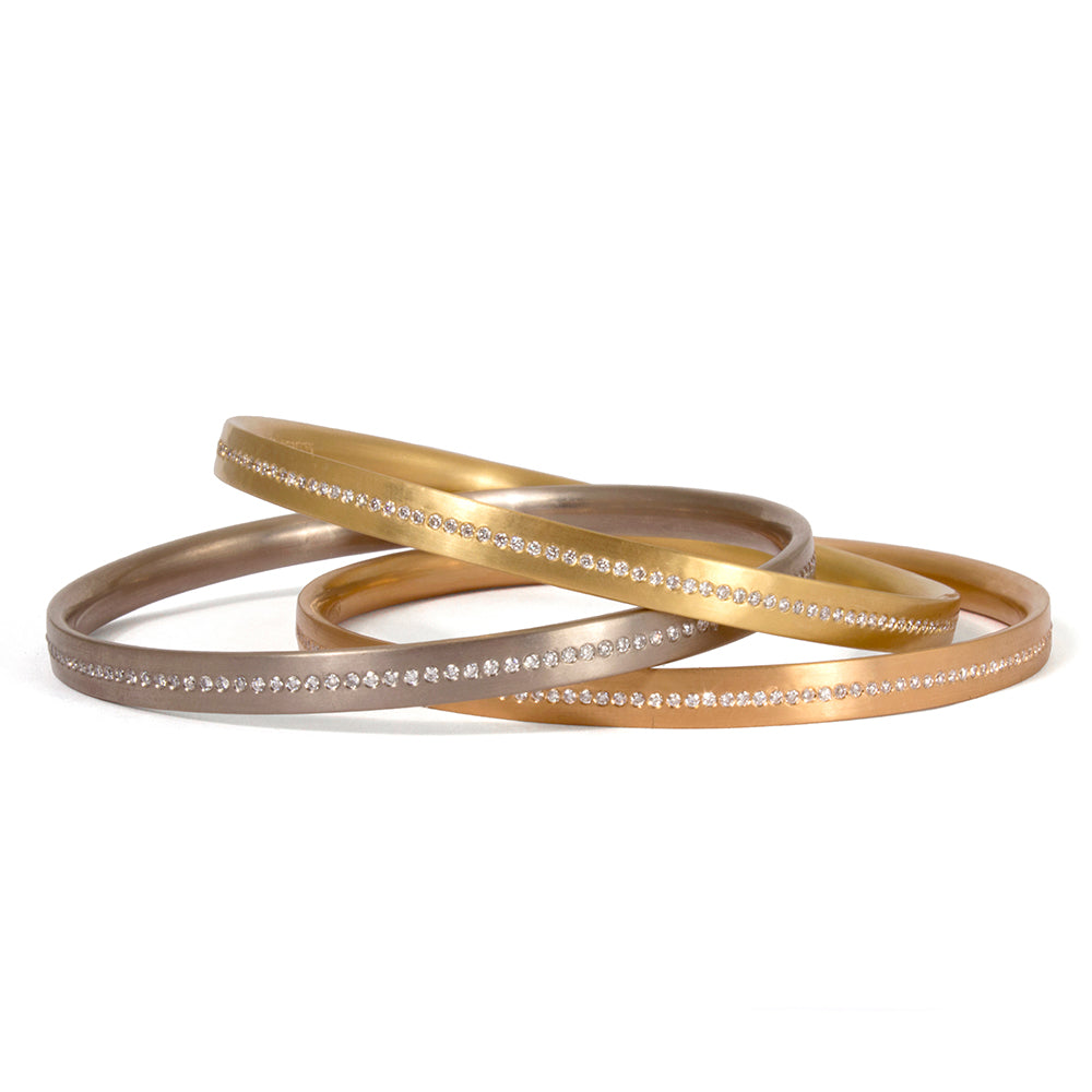 Meridian Bangle 20k Peach Gold