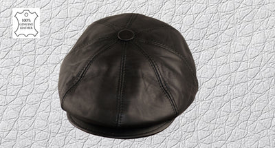 What to look for in a Hat 100% Leather Newsboy Cap
