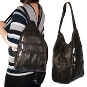 Hobo Bags Slouch Backpack Handbag Shoulder Bag Genuine Leather Day - Dazoriginal