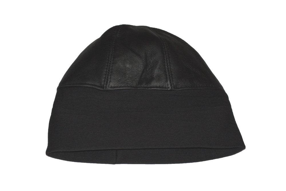 670216b68 Docker Cap Fisherman Ski Hat Winter Beanie Unisex Plain Black Leather  Insulated Skully