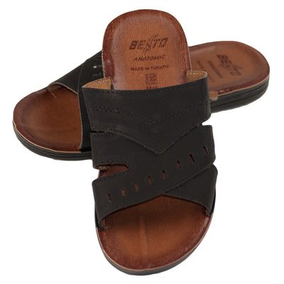 Men's Vegan Leather Flip Flop Sandals - Dazoriginal