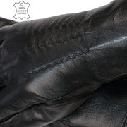 Nappa Leather Gloves Mens Winter Gloves Wool Soft Black Leather High Quality Lambskin Extra Thick - Dazoriginal