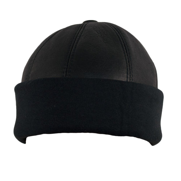 Dazoriginal Black Docker Cap Leather - Dazoriginal