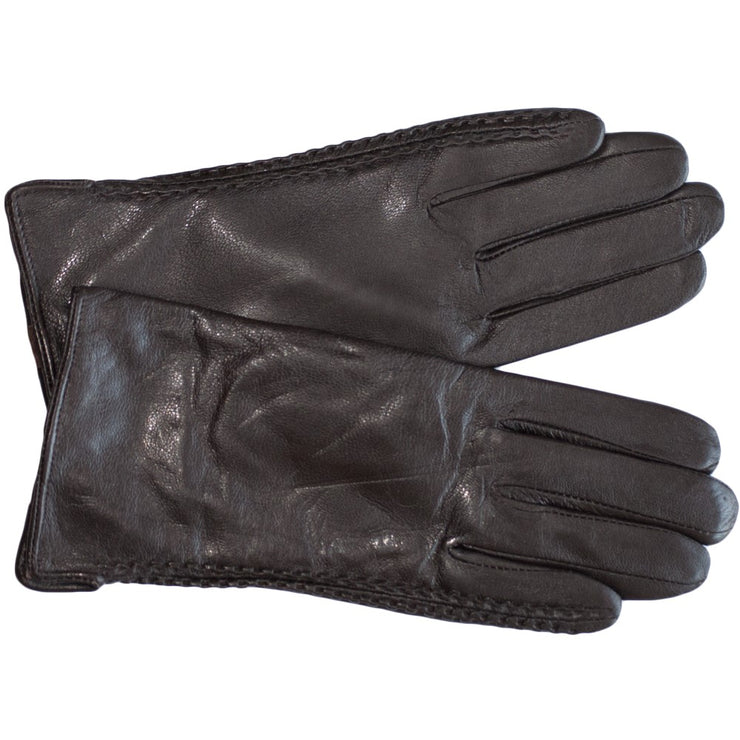 Nappa Leather Gloves Womens Winter Gloves Wool Soft Brown Leather Sizes 7 - 8.5 Lambskin - Dazoriginal