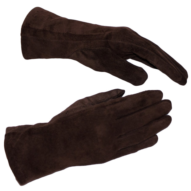 Suede Nappa Leather Gloves Womens Winter Gloves Wool Soft Brown Leather Lambskin - Dazoriginal