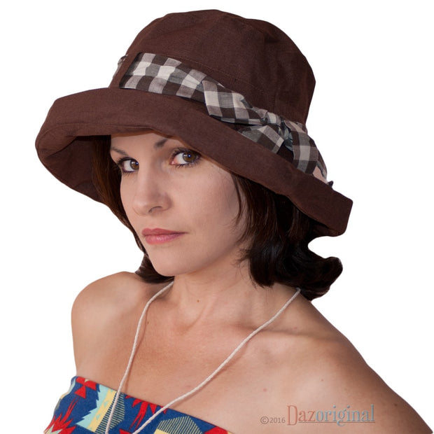 Dazoriginal Summer Ladies Hats Adjustable Foldable Sun Hat Bucket Anti UV Sunbonnet - Dazoriginal
