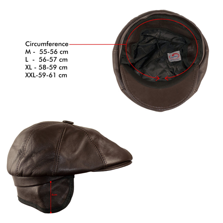 Dazoriginal Men Baker Boy Leather Hat - Dazoriginal