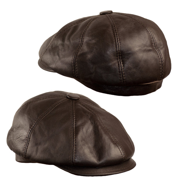 Dazoriginal Newsboy Hats for Men Baker boy Leather Hat Panel Cap Irish Flat Caps - Dazoriginal