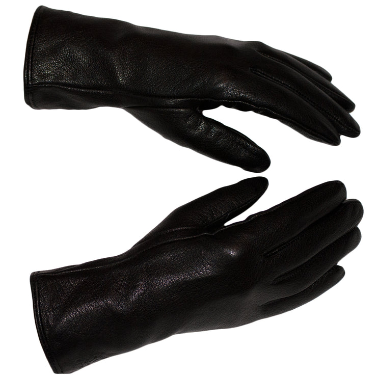 Deer Skin Nappa Leather Gloves Womens Winter Gloves Wool Soft Black Leather Sizes 7 - 8.5 - Dazoriginal