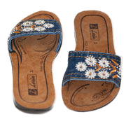 Ladies Vegan Summer Denim Sandals - Dazoriginal