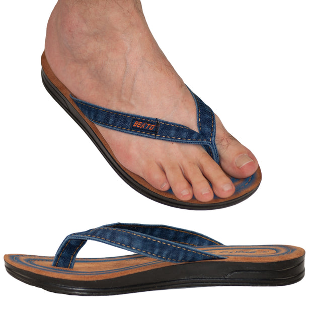 Men's Vegan Flip Flop Thong Sandals - Dazoriginal