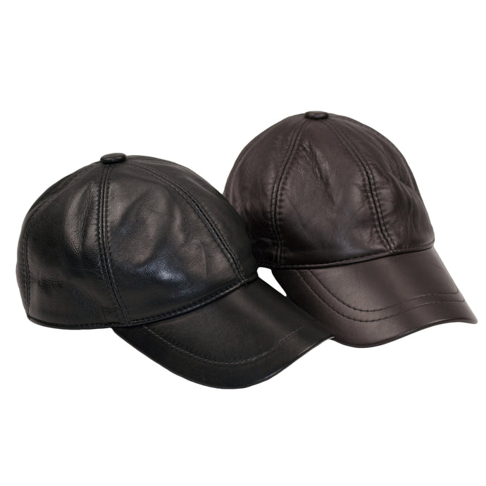 Dazoriginal Leather BASEBALL CAPS GENUINE LEATHER PRECURVED SNAPBACK 3 Colours