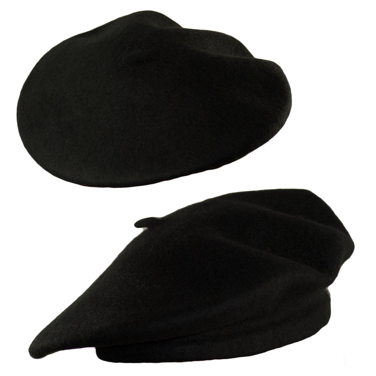 Dazoriginal Womens Wool Hat Black 100% Wool Beret Vintage Classic French Beret - Dazoriginal