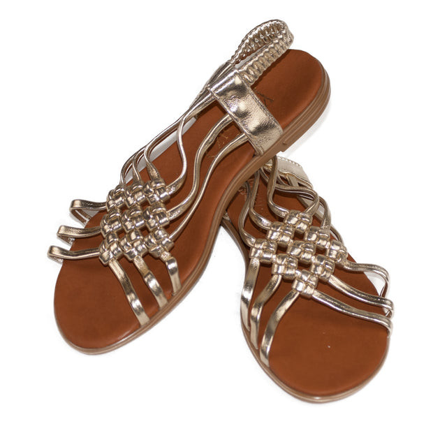 Ladies Vegan Leather Flip Flop Sandals Shoe - Dazoriginal